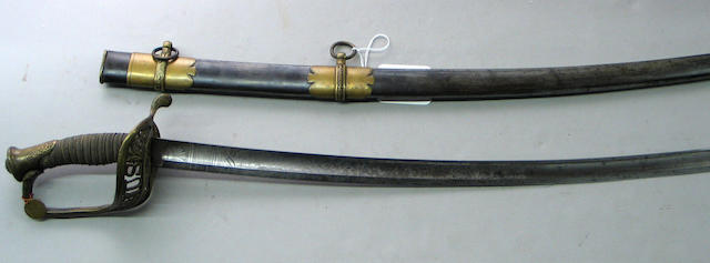 A U.S. Model 1850 staff and field officer's sword by Horstmann