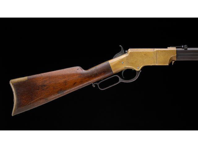 An inscribed Henry Model 1860 lever action rifle