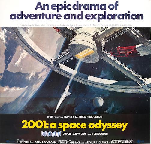 2001: A Space Odyssey, 1968, 83x79, framed