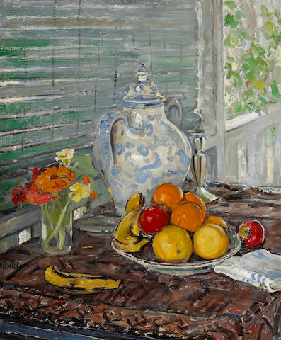 Clarence Hinkle (1880-1960) Still Life 36 x 30in