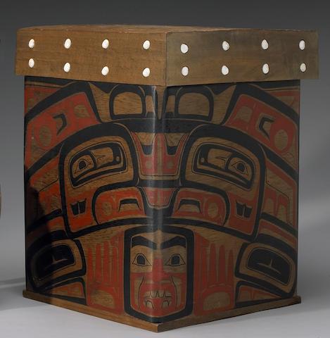 A Tlingit bentwood box