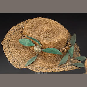 An Eskimo European style basketry lady's hat