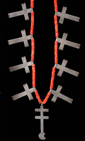 A Pueblo cross necklace
