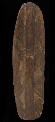 A Queensland Aborigine painted shield
