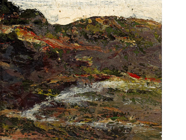 Ernest Lawson (1873-1939) A Landscape, 1935 4 x 5in