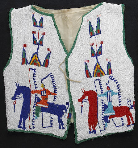 A Sioux beaded vest