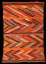A Navajo transitional rug, 6ft 9in x 4ft 6in
