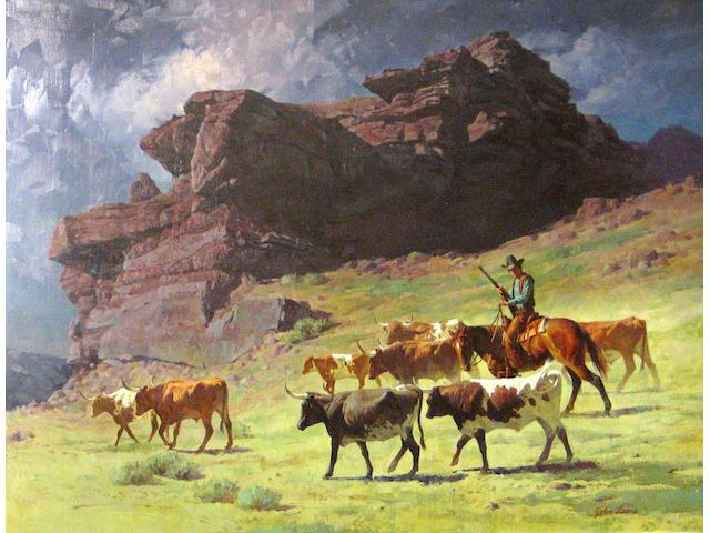 John Leone (American b.1929) On the move 29 3/4 x39in
