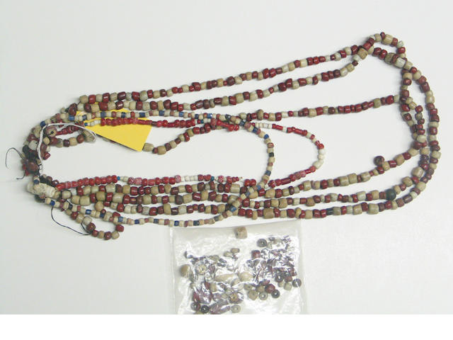 A collection of California trade beads collected in the Russian River area