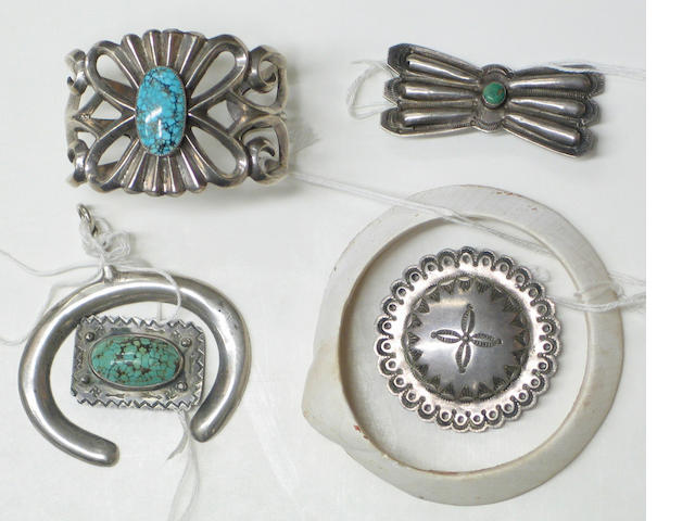Six examples of Southwest jewelry