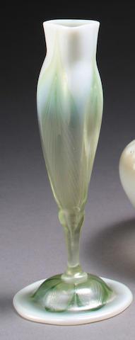 A Tiffany Studios Favrile glass floriform cabinet vase