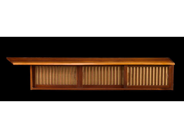 A George Nakashima fine walnut wall-hanging cabinet