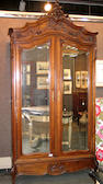 A Louis XV style walnut armoire