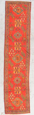 An Oushak runner West Anatolia, Size approximately 10ft 1in x 2ft 4in