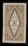 A Navajo Two Grey Hills rug, Sarah Begay, 4ft 3in x 2ft 7in