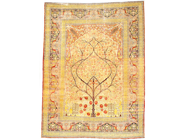 A Tabriz carpet Northwest Persia, Size approximately 12ft 6in x 9ft 5in