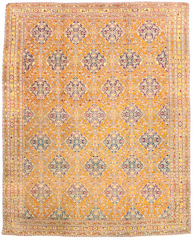 An Agra carpet India, Size approximately 12ft 6in x 9ft 11in