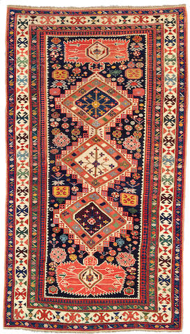 A Shirvan rug Caucasus, Size approximately 8ft 8in x 4ft 11in