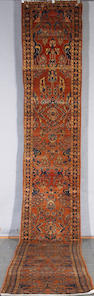 A Lilihan runner Central Persia, Size approximately 22ft 8in x 2ft 6in