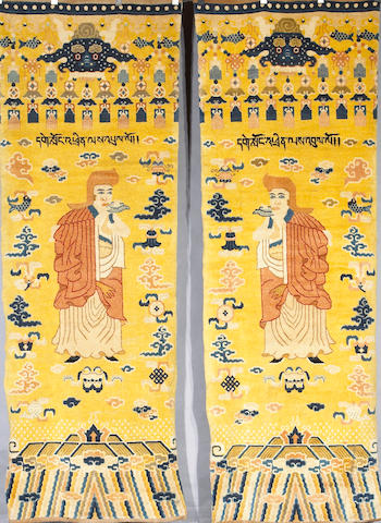 A pair of Tibetan runners Size approximately 9ft 3in x 3ft 3in