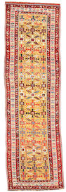 A Kazak runner Caucasus, Size approximately 15ft 1in x 4ft 5in