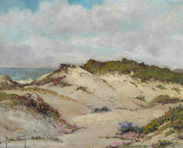 Francis Harvey Cutting (American 1872-1964) Carmel Dunes, 1947 16 x 20in