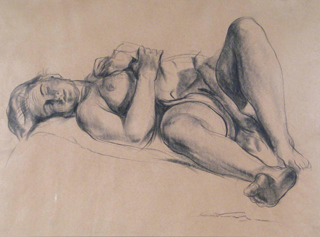 Emil Jean Kosa, Jr. (American 1903-1968) A Reclining Nude sight: 17 1/4 x 23 1/2in