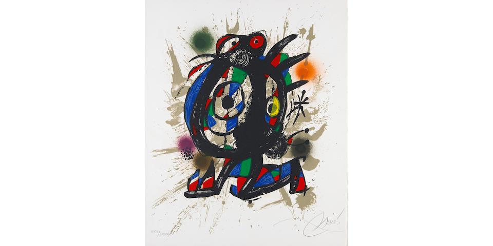 Joan Miró; Lithographe III; (8)