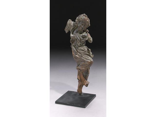 A Northern European carved oak figural fragment