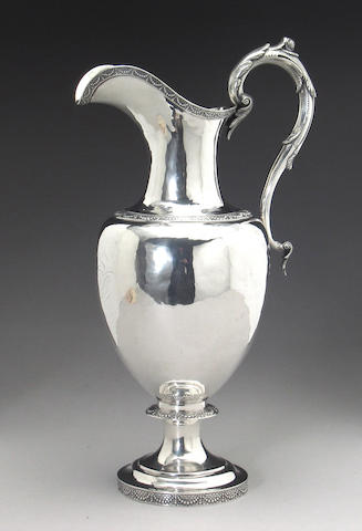 Philadelphia Silver Water Pitcher by Sharp with Presentation Inscription to Publisher and Politician John W. Forney
