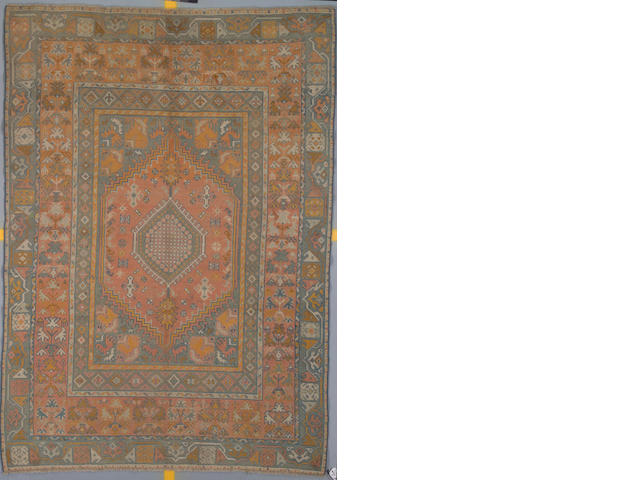 An Oushak rug West Anatolia, Size approximately 9ft 8in x 6ft 2in