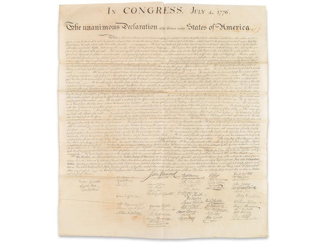 [DECLARATION OF INDEPENDENCE.] Bound in : American Archives, 9 vols.