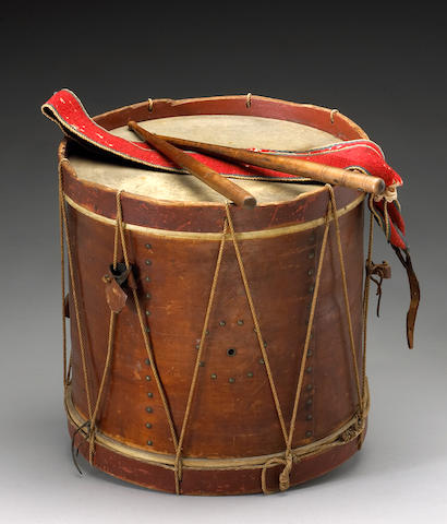 A Civil War drum carried by Orestes H. Porter, Company I, 21st Maine Volunteer Infantry