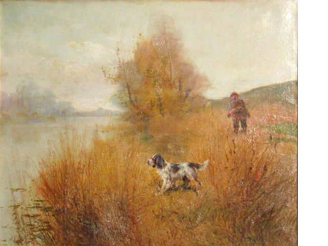 British School (20th century) Out hunting 21 1/4 x 25 1/2in