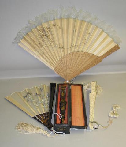 Four folding fans