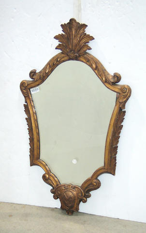 A Baroque giltwood mirror