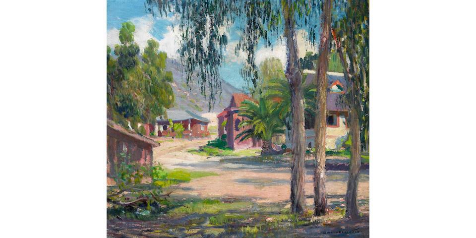 Joseph Kleitsch (1882-1931) Laguna Village (Corner of Laguna Avenue and Glenneyre Street), circa 1920 18 x 20in