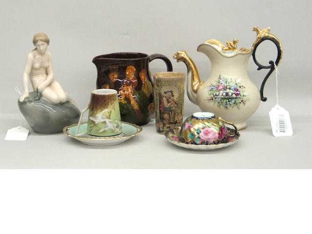 An assembled grouping of English, Continental and Japanese ceramics