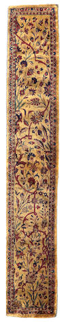 A Silk Kashan Carpet Central Persia, Size approximately 10in x 4ft 11in