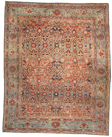 A Mohtasham Kashan Carpet Central Persia, Size approximately 12ft 1in x 15ft