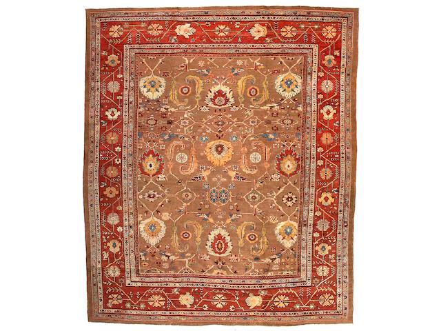 A Sultanabad Carpet Central Persia, Size approximately 11ft 9in x 13ft 8in