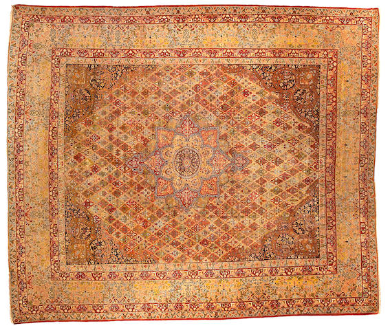 A Kerman Carpet Central Persia, Size approximately 10ft 10in x 12ft 8in
