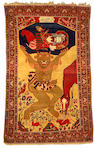 Fereghan Sarouk Pictorial Rug Central Persia, Size approximately 4ft 5in x 7ft 4in