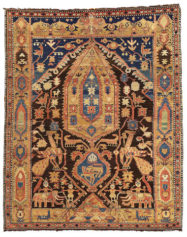 A Shirvan Rug Caucasian, Size approximately 4ft 8in x 5ft 9in