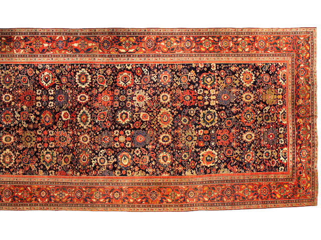 A Sultanabad Carpet Central Persia, Size approximately 11ft 1in x 26ft 9in