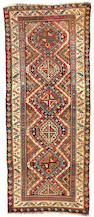 A Shirvan Carpet Caucasian, Size approximately 4ft x 9ft 7in