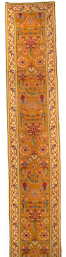 A French Savonnerie style Runner Size approximately 4ft x 23ft 1in