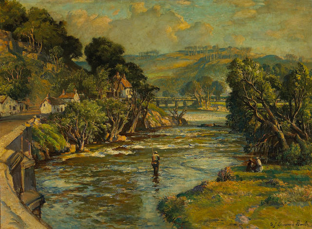Samuel John Lamorna Birch (British 1869-1955) On the Taw, near Umberleigh, Devon, Glorious Devon 22 x 30in (55.9 x 76.2cm)