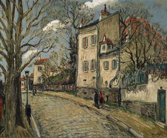 Alphonse Léon Quizet (French 1885-1955) A Village Street Scene
