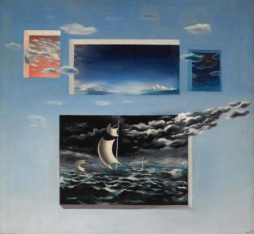 Herbert Bayer (Austrian 1900-1985)  Ethereal, 1935-38 39 x 36in (99 x 91½cm)